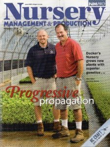 Cover Story, NURSERY MANAGEMENT & PRODUCTION MAGAZINE, November 2010